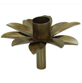 Fleskandelaar Flower - brons