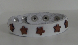 Armband Sterren - wit/koper
