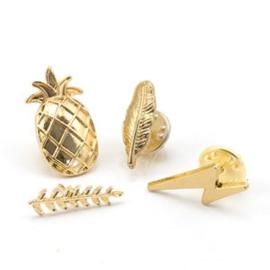 Set van 4 pins - goud