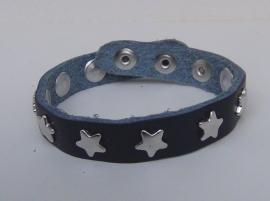 Armband sterren - donkerblauw