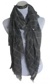 Vierkante sjaal Grid - grijs