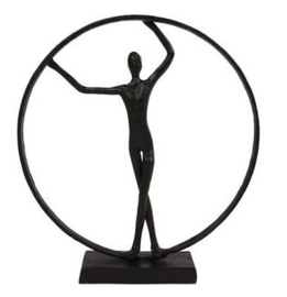 Sculptuur Person, metaal