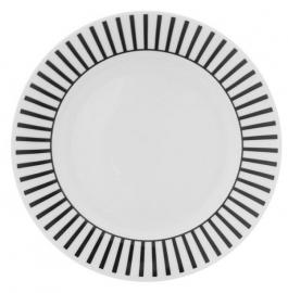 Ontbijtbord - strepen