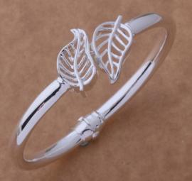 Armband Leaf - verzilverd