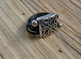 Leren ring - Keltic