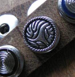 103 Clickbutton Fantasie - zilverkleur