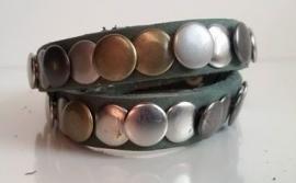 Wikkel armband Studs - groen