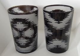 gl010 Waxinelichtje X - zwart