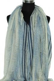0339 Sjaal - blauw