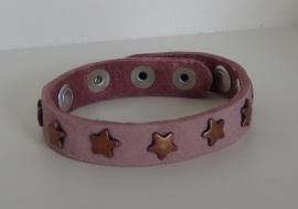 Armband Sterren - roze/koper