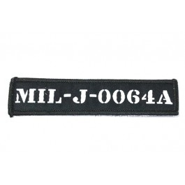 Patch Militair nummer - zwart/wit