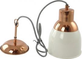 Hanglamp Zoe - ecru/koper