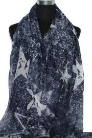 SZ255 Sjaal Stars - denim