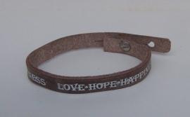 Armband Love, Hope ... - bruin