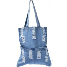 Shopper/tote bag - stonewashed denim