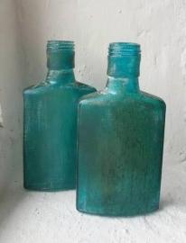 Glazen flesje - blauw