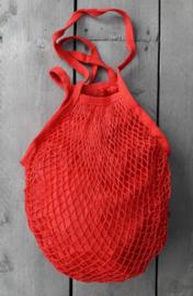 Granny's nettas met schouderband, rood