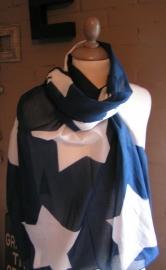 Sjaal Star - blauw