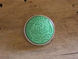 801 Clickbutton Blad - groen