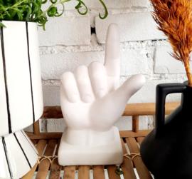 Decoratie hand, matwit