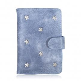 Paspoorthoes Stars - blauw