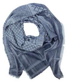 Sjaal Daria - blauw/wit