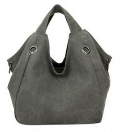 Schouder/handtas Stonewashed Grey