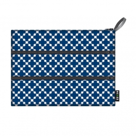 Ecozz Zip Bag Squares - blauw