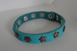 Armband Sterren -aqua/koper