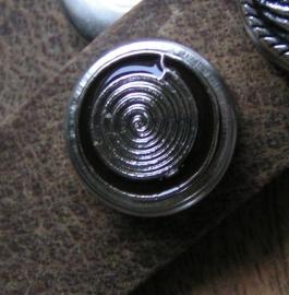 105 Clickbutton Endless cirkel - bruin
