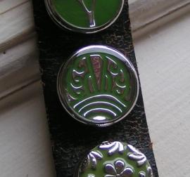 108 Clickbutton India - groen