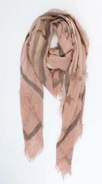 Sjaal Stars, vierkant - roze