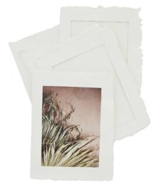 Fotoframe papierpulp - offwhite