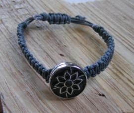 ab0067 - Koord armband - grijs