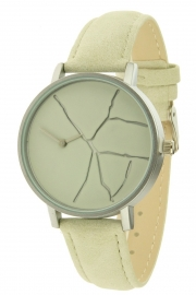 Horloge Crack - beige