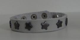 Armband Sterren - lichtgrijs