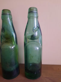 Vintage kogelfles, groen