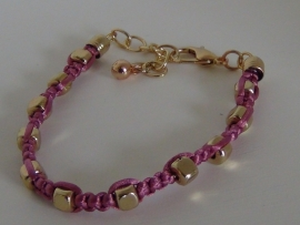 Armband roze/goud