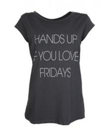 T-shirt Hands up - antraciet