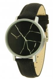 Horloge Crack - zwart
