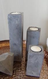 7335 Waxinelichtje Kolom - beton