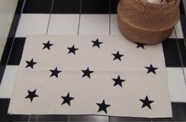 Vloerkleed Sterren - wit/zwart