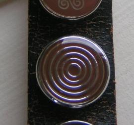 108 Clickbutton Cirkels - bruin