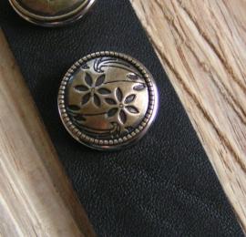 110 Clickbutton Bloemen - brons