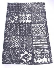 Vloerkleed Mix - zwart/wit