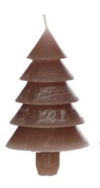 Kaars Kerstboom, taupe