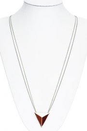 Ketting Triangle - roest/rood
