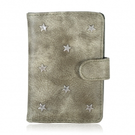 Paspoorthoes Stars - groen