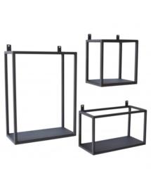 Wandbox, zwart - In 3 maten