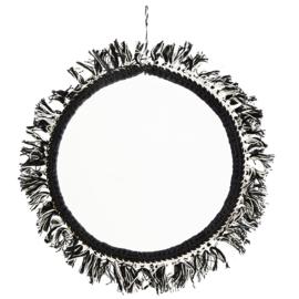 Spiegel Franje - offwhite/zwart